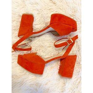 Kenneth Cole Platform Heeled Sandals